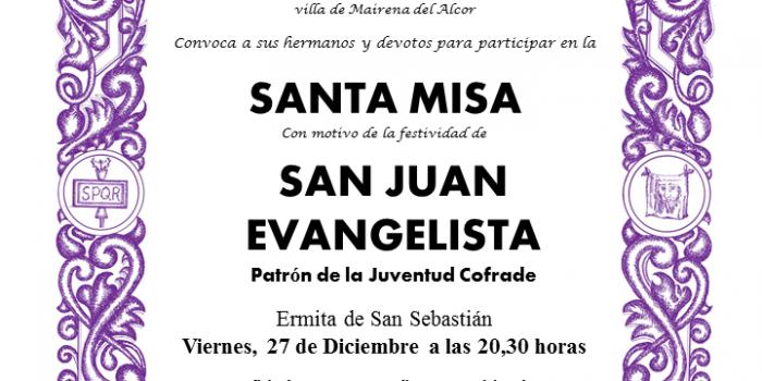 Santa Misa con motivo de la Festividad de San Juan Evangelista