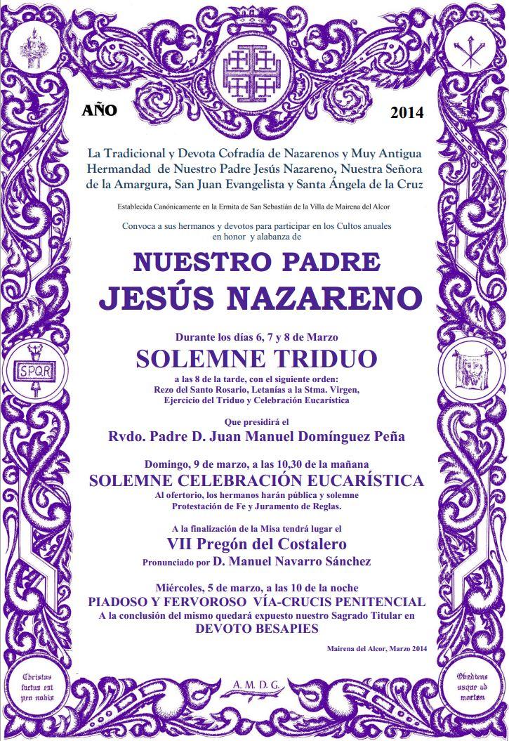 cartel cultos jn 2014