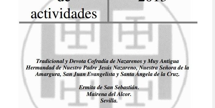 MEMORIA ANUAL DE ACTIVIDADES AÑO 2013