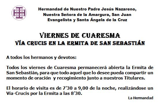 Ermita - Viernes de Cuaresma
