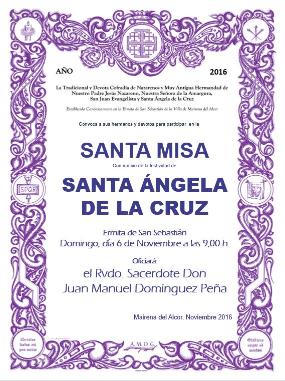 Cartel Santa Ángela 2016