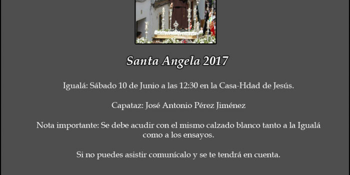 SANTA ÁNGELA 2017