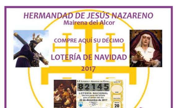 Lotería para el sorteo extraordinario de Navidad 2017.