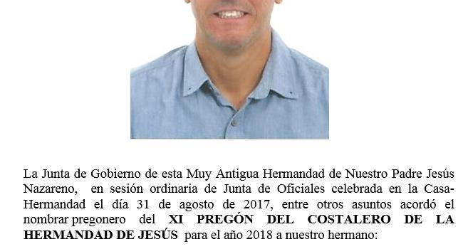 Nombramiento Pregón del Costalero 2018