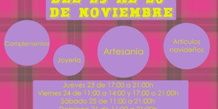 Rastrillo Solidario, del 23 al 26 de Noviembre