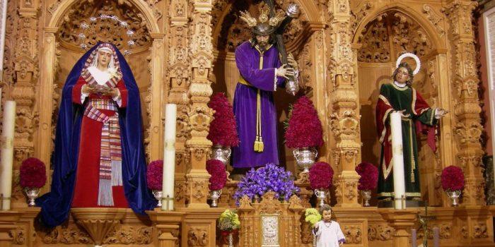 Retablo de la Capilla del Sagrario de la Ermita de San Sebastián. Comunicación a los hermanos.