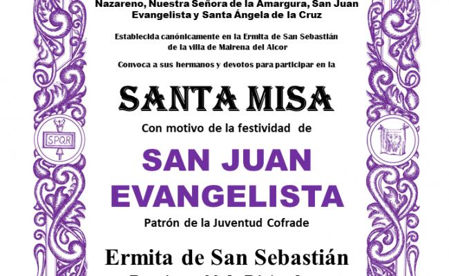 Misa en honor a la festividad de San Juan Evangelista
