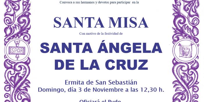 Misa Santa Àngela de la Cruz
