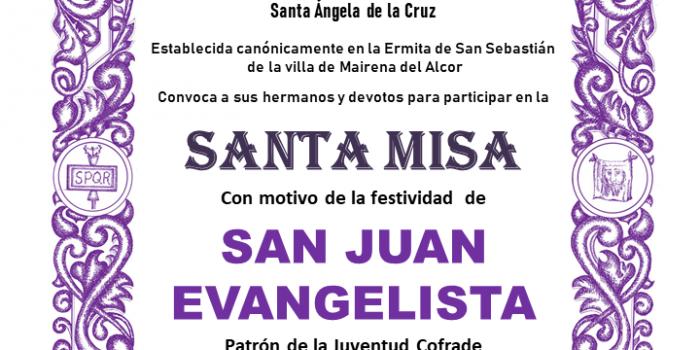 Misa en honor de San Juan Evangelista