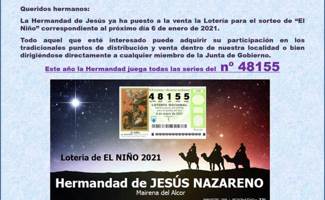 Lotería de EL NIÑO 2021