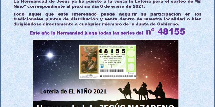 Lotería de «EL NIÑO» 2021